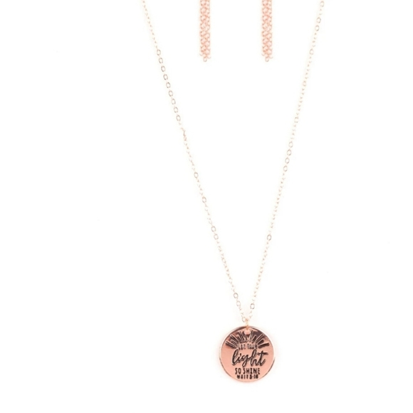 paparazzi Jewelry - Copper necklace/earrings paparazzi